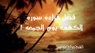 Photo of فضل سورة الكهف للشيخ صالح المغامسي